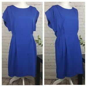 Eliza J Cobalt Blue Pleated Mini Dress 8